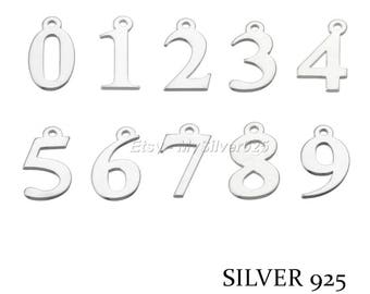 1, 10 or 100 charms 7mm 925 Silver - pricing numbers