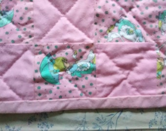 Sweetheart girl baby quilt