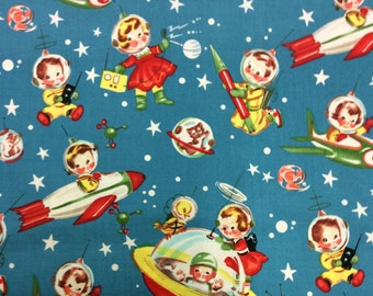 Patchwork Quilting Fabric Michael Miller Rocket Rascals