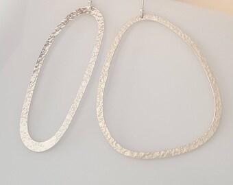 Asymmetrical Hoop Earrings