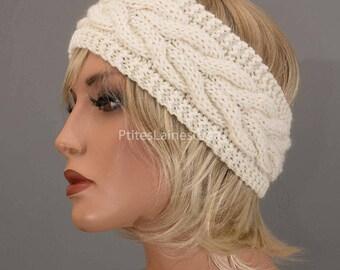 Hand knitted headband, ear-warmer, headband, woman wool
