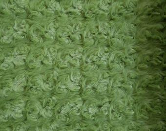Minky Swirl Fabric in Green