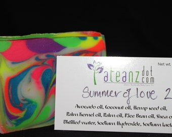 afeanz Summer of Love 2 Handmade soap