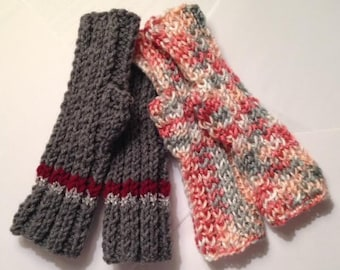 Easy Ribbed Fingerless Gloves PATTERN