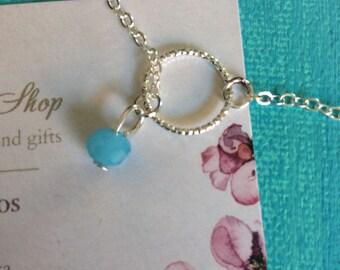 Gold or Silver Dainty Bracelet With Tiny Gemstone