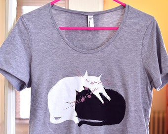 Cat Shirt - Love Pile - Cat Mom - Women's Shirt - Mother's Day Gift - Cat Lover