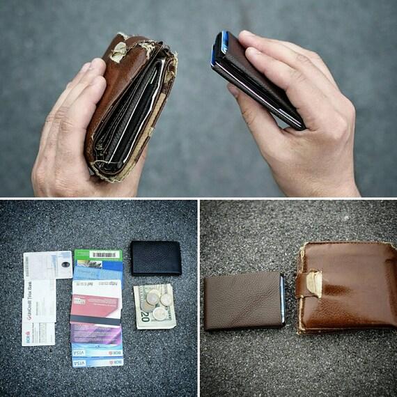 Mens Wallets, Minimalist wallet, Best Slim Minimalist Wallet, Leather Wallet, RFID Wallet, Groomsmen Gifts, Leather Wallets