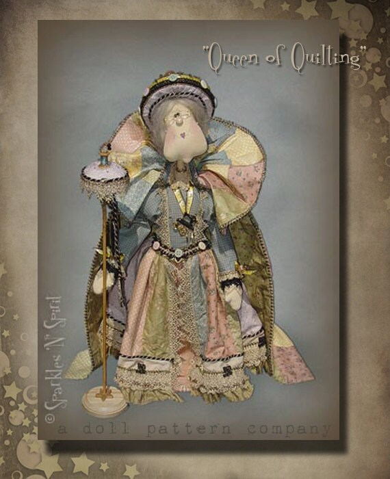 """Pattern: """"Queen of Quilting""""- 30"""" tall"""