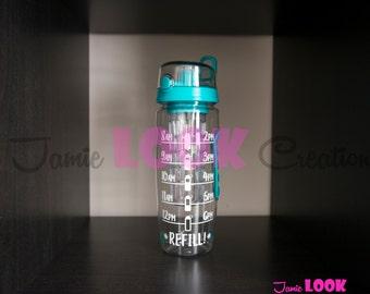 Water Tracker/Personalized 32 oz Fruit Infuser Water Bottle