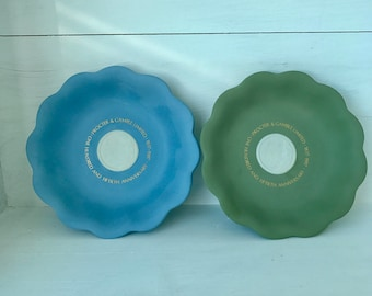 A pair of non-identical, small, jasper-ware Wedgwood dishes commemorating the 150th anniversary of Procter & Gamble
