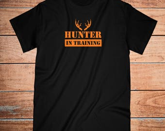 hunting kids shirt | deer | outdoors | camping | antlers shirt | youth outdoors | winter | neon orange | safety shirt | hunter | shooting