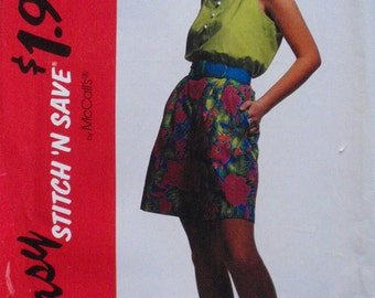 Women's Stitch 'N Save Sewing Pattern - Tank Top and Wide Leg Shorts - McCall's 5924 - Sizes 14-16-18-20, Bust 36 - 42, Uncut