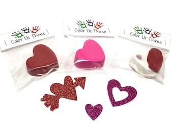Custom heart crayons - valentine's favors - kids class favors - allergy free valentine's favors - sugar free favors - kids valentines