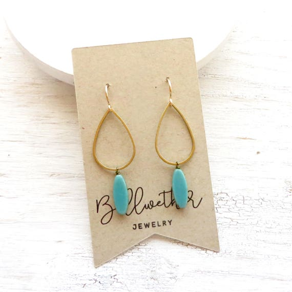 Balance Earrings > Turquoise