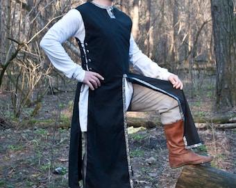 Fantasy surcoat Medieval surcoat LARP Linen surcoat Medieval garb Knight garb SCA elven Fantasy tunic medieval reenactment overcoat
