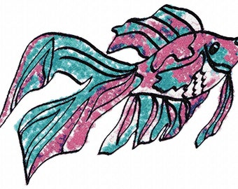 Fish Fantasy  Machine Embroidery Design...3031