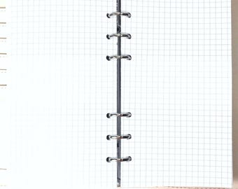 Personal Size Graph Paper, Grid Paper Inserts for Ringbound Planners