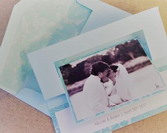 Flip Card Wedding Photo Thank You