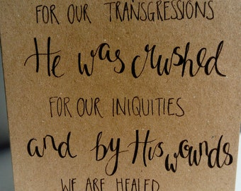 Isaiah 53 Easter card