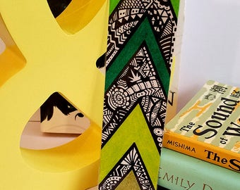 Bookmark ~ Green Arrows