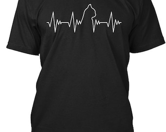 Cat Heartbeat - Hanes Tagless Tee - Black