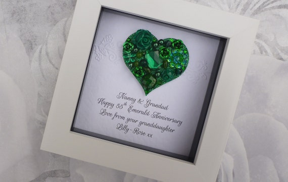 55th anniversary gift 55th wedding anniversary gift 55th emerald