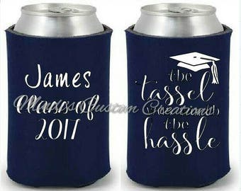 Graduation can coolers / personalized graduation coolers / class of 2017 / personalized can coolers / insulated can cooler personalized