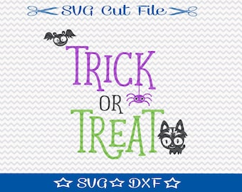 Halloween SVG File, SVG Cut File for Silhouette, Trick or Treat svg, Halloween Cut File, Happy Halloween svg