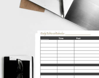 Editorial Calendar, Blogging Editorial Calendar, Blogging Calendar, Content Creator Calendar, Content Marketing Calendar, Podcaster Calendar