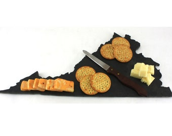Virginia Slate Cheese Board, Serving Tray, or Cutting Board- Personalized with Laser Engraving