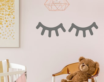 Sleepy Eyes Eyelash Wall Sticker Decal Nursery Kids Bedroom Vinyl Adhesive | G25