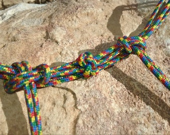 New Hand-tied Paracord Fiador Knot Bit Hobble/Curb Strap - Tie Style