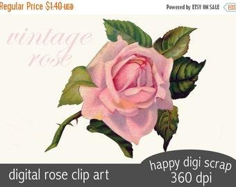 vintage rose clip art - instant download - scrap rose - png with transparent background - commercial use - wedding clip art