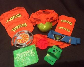 Teenage Mutant Ninja Turtles Kiddie Dress up Kit - 1989