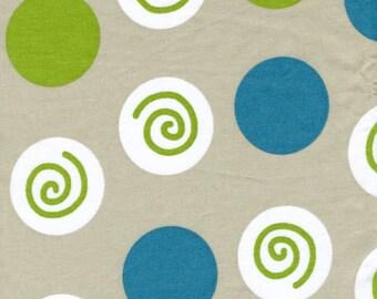 Fabric grey white blue rounds circles Cotton Fabric Kids Fabric Scandinavian Design Scandinavian Textile