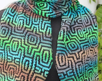 Scarf in bright colours