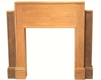Mahogany and Walnut Fireplace Mantel