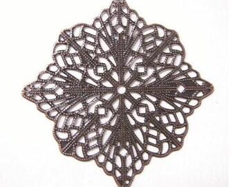 10pc 57mm antique copper filigree wraps-5693