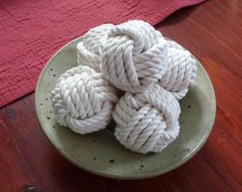 Monkey Fist Decorative Balls -Set of Three