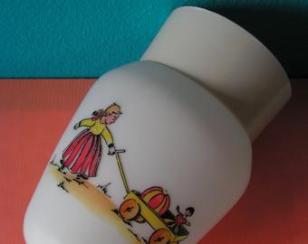 Vintage Glass Children's Ceiling Light Lamp, 1960s
