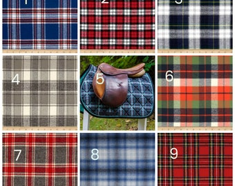 Custom Saddle Pad Plaid Flannel - Tartan // Black watch // Stuart - Made to Order