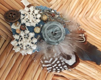 Skagen Pebbles - ATS or tribal fusion belly dance hair clip | Gatsby flapper art deco  fascinator 1920 party ball (M)