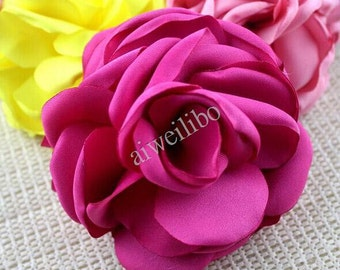 Fabric Flower, Flower Appliques, Flowers For Crafts, Flowers Embellishments,Diy Flowers