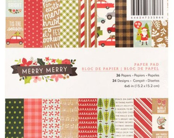 Merry merry 6x6 paper pad