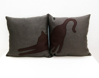 Cat pillow covers,  cat lovers, decorative pillows, sofa pillows, dorm pillow, pet pillow, pillow set, cushions