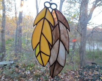 Feathers  Stained Glass Suncatcher