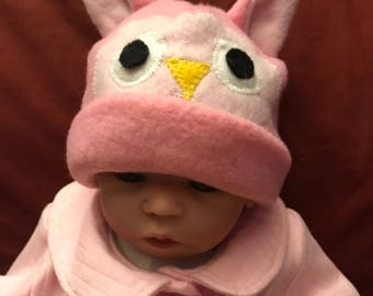 Podunk hats for baby pink owl hat infant