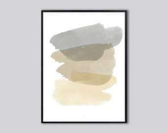 abstract wall art, Abstract art print, Modern watercolor wall art, Grey, abstract watercolor print, minimalist abstract, abstract painting