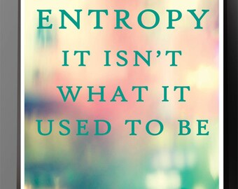 Science Poster - Entropy Joke