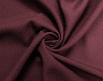 """Burgundy 60"""" Poly Crepe Fabric by the Yard - Style 3060"""